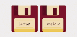 how to backup and restore template in blogger