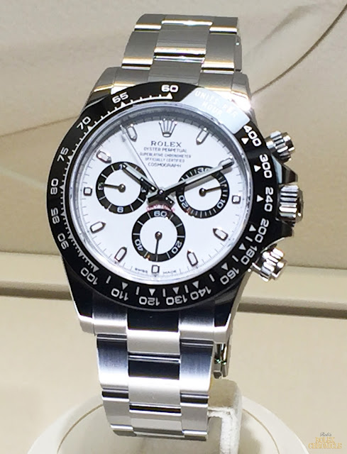 2016 Rolex Oyster Perpetual Cosmograph Daytona white dial black bezel paul newman