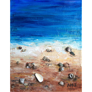 "Beach combing- 5""x7"" Art Card"