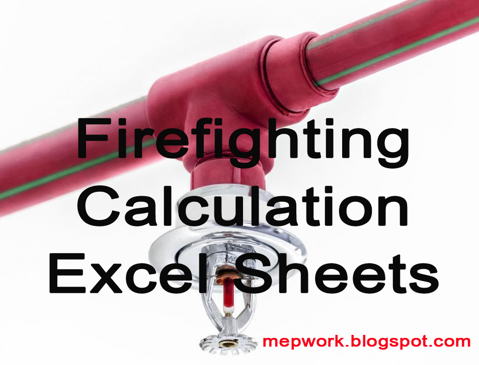 Download Fire Sprinkler Systems Calculation Excel Sheets