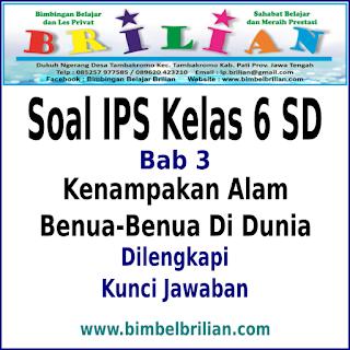 Kali ini Admin ingin membagikan Link Download Soal IPS Kelas  Download Soal IPS Kelas 6 SD Bab 3 Kenampakan Alam Benua-Benua Di Dunia Dan Kunci Jawaban