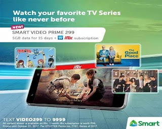 Smart Video Prime 299 – 5GB Data + 30 days iWant TV and iFlix Subscription