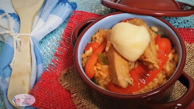 arroz con secreto ibérico y torta del casar