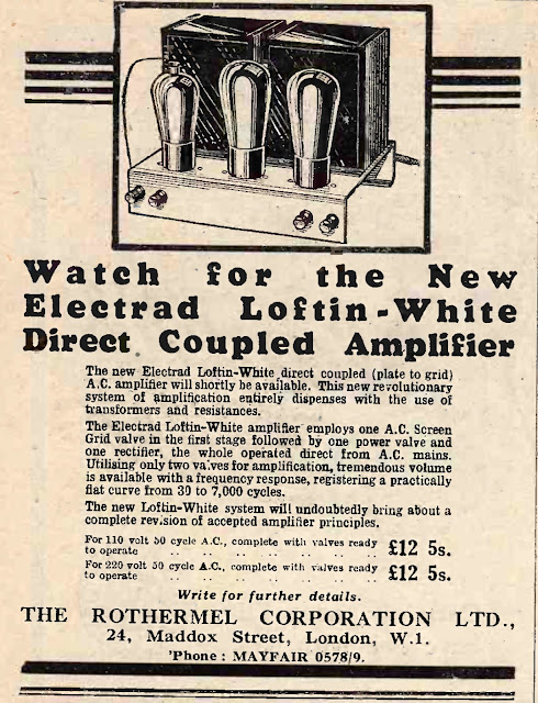 Loftin White DC Amplifier UK Advert