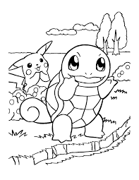 Squirtle coloring page 5
