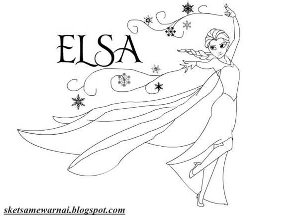 Sketsa Mewarnai Gambar Barbie Elsa Keluarga Kristen