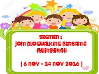Segmen Jom Blogwalking Bersama Ayuinsyirah
