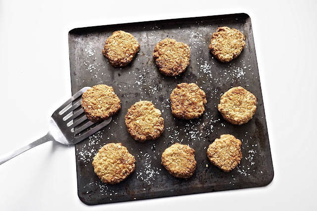 ANZAC Biscuits on tray