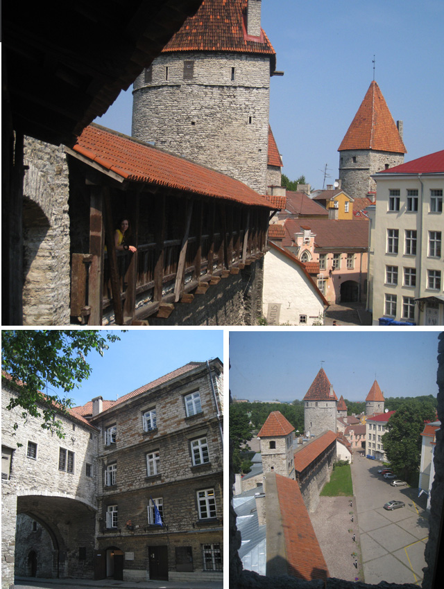 Paseo por las murallas; abajo, a la izquierda, la puerta Rannu