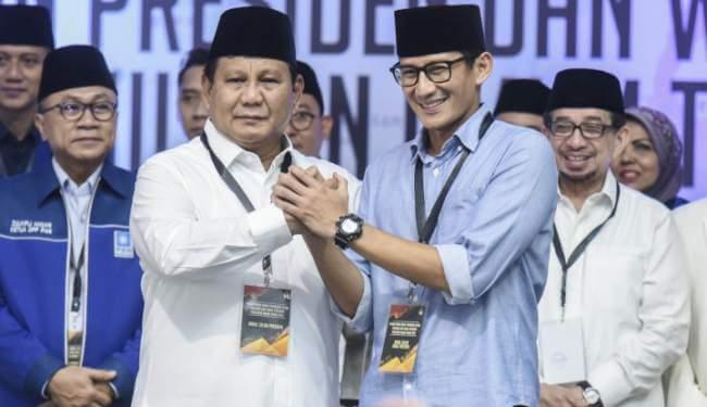 Aura Kemenangan Prabowo Sandi Terus Bergulir