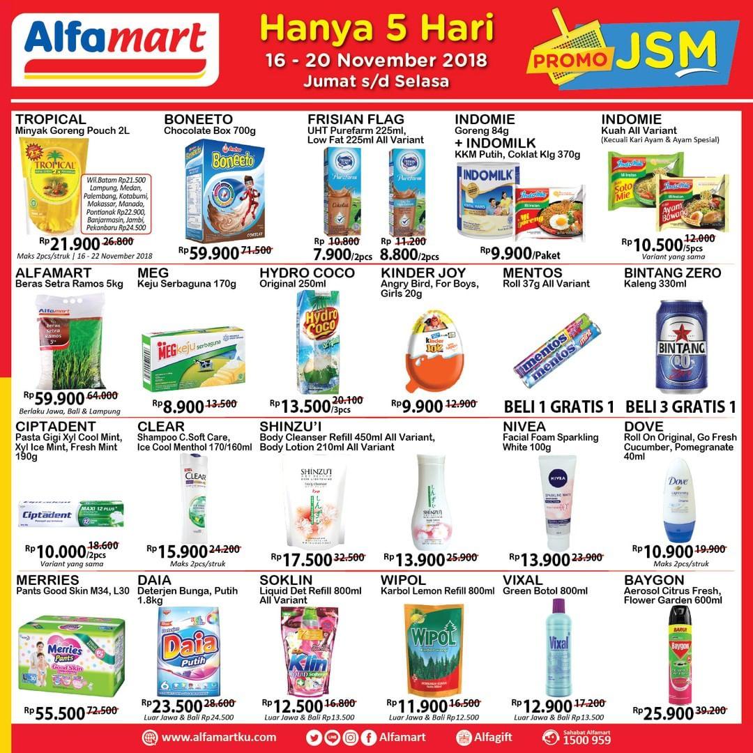 Alfamart - Promo JSM Periode 16 - 20 November 2018