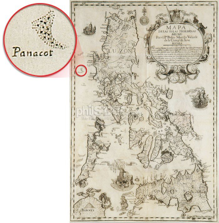 Spanish Philippines Map.The Project Review History An Old Spanish Map Showing Panatag