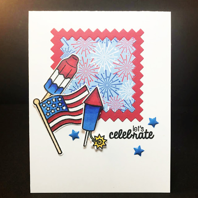 Sunny Studio Stamps: Stars & Stripes Fourth of July card by Claire Broadwater
