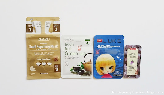 Skin18 Masks Galore: Part 1 - Cracare: Snail Repairing Mask, Luke: Hyaluron Essence Mask and Purederm: Grape Yogurt Pack Reviews