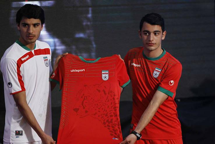 19dfb4f21 Iran 2014 World Cup Kits Unveiled - Footy Headlines