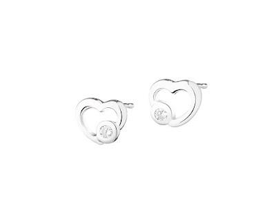 Apart kolczyki serduszka prezent na Walentynki 2016 biżuteria minimalistyczna