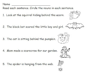 Smiling and Shining in Second Grade: Noun Worksheets
