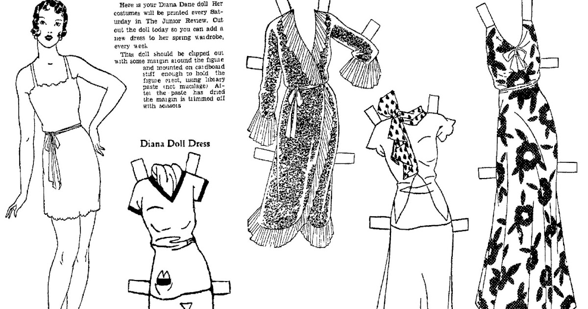 Mostly Paper Dolls Too!: DIANA DANE Paper Doll