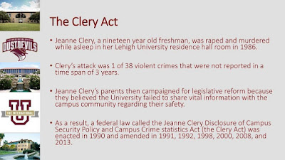 Clery Act info