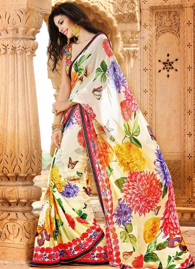Floral sari