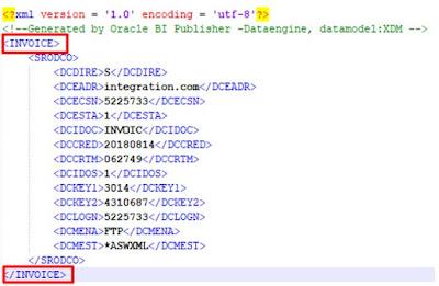 XML output of BI Report