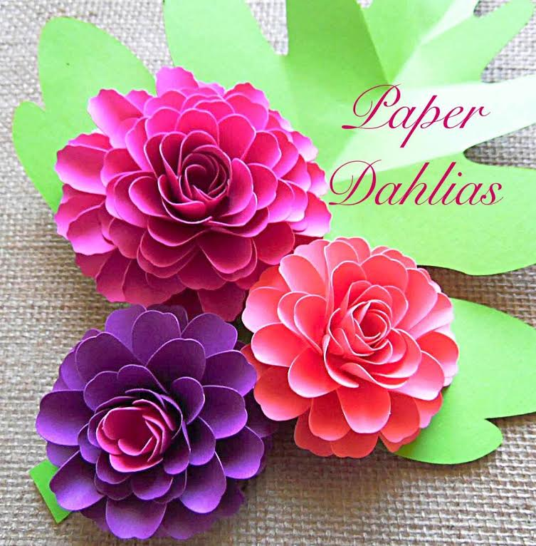 how to make paper dahlia flowers  small paper flower tutorial