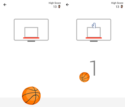 play basketball game in fb messenger