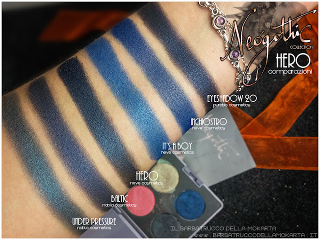 hero  eyeshadow comparazioni neogothic collection neve cosmetics