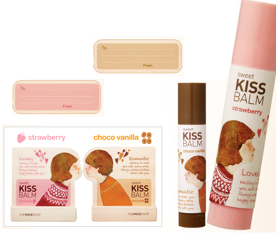 Faceshop Sweet Kiss Balm - Choco vanilla and Strawberry