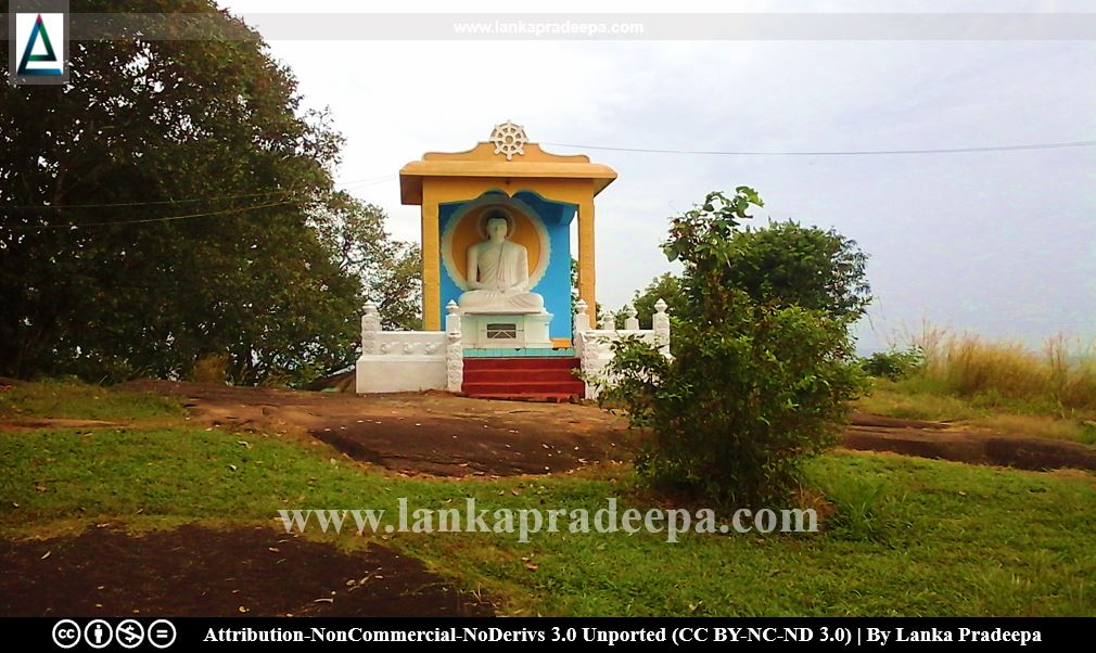 The Buddha statue at the top of the Asgiriya mountain