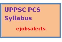 UPPSC PCS Syllabus 2017