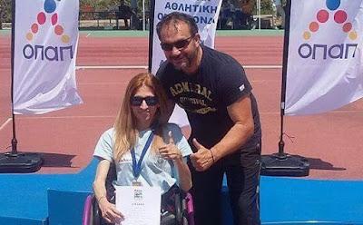 Χρυσό μετάλλιο στο ακόντιο στο Πανελλήνιο πρωτάθλημα ΑμεΑ για τη μαθήτρια του Εσπερινού Λυκείου Ηγουμενίτσας Βούλα Κατσούλη