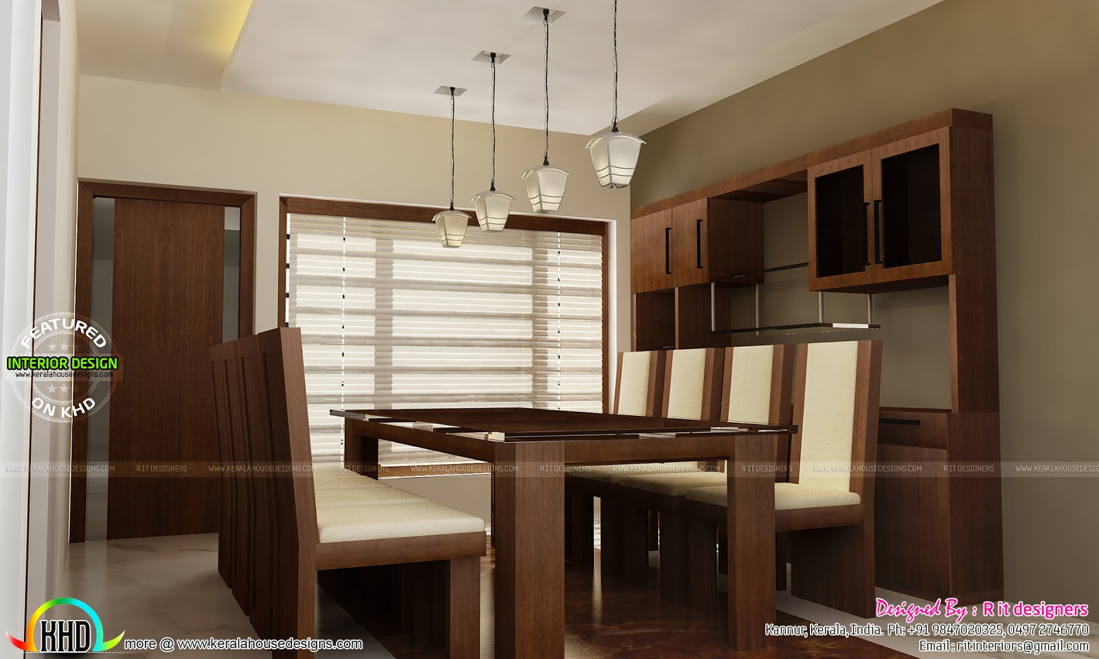 Tv unit furniture dining and bedroom interiors kerala for Apartment design kerala