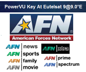 AFN Sports Updated PowerVU Key At Eutelsat9@9.0°E