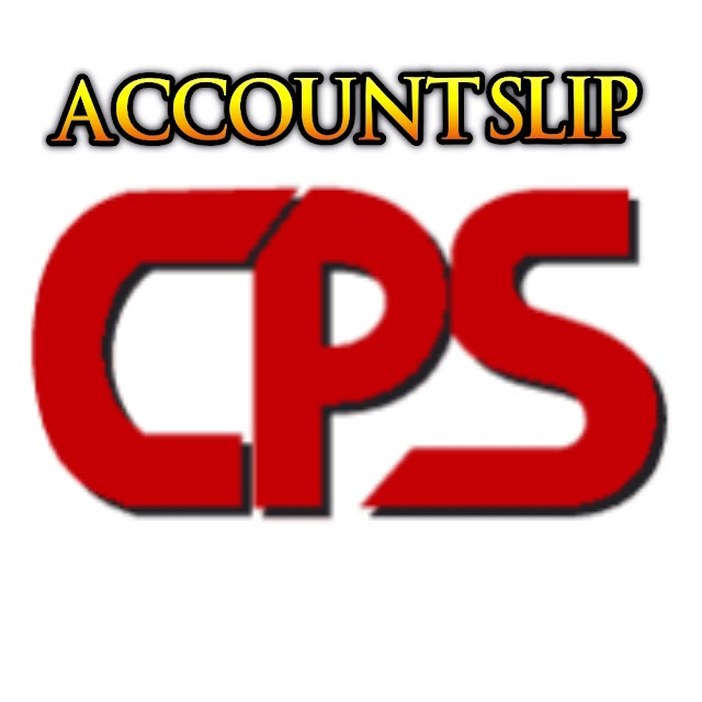 Cps Account slip published