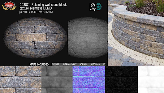 New excellent Retaining Walls stone seamless textures and maps