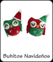 Búhos navideños amigurumi