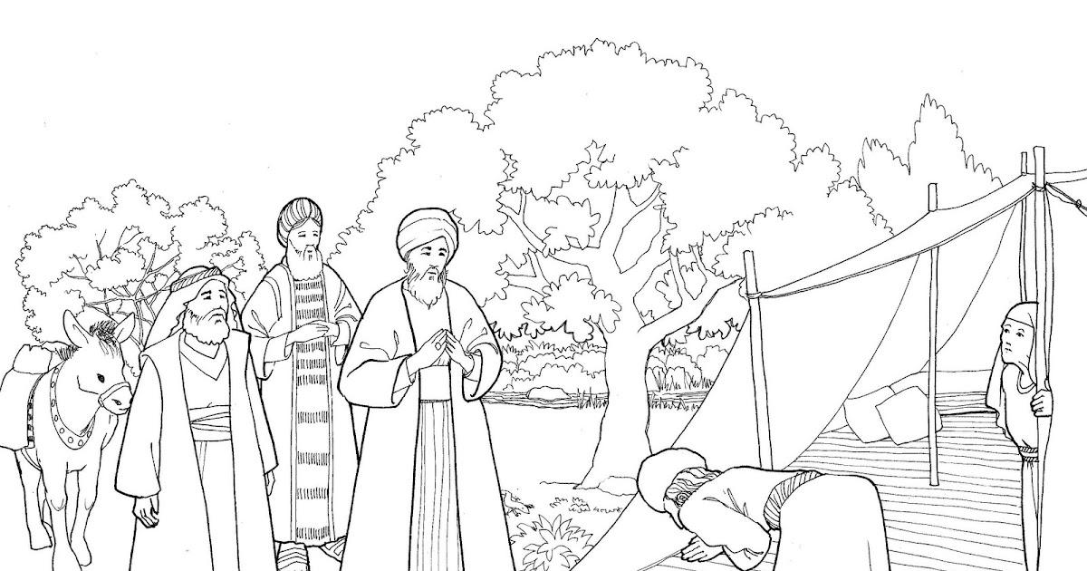 The Catholic Illustrator's Guild: God visits Abraham