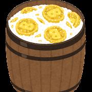 塩漬けの仮想通貨のイラスト