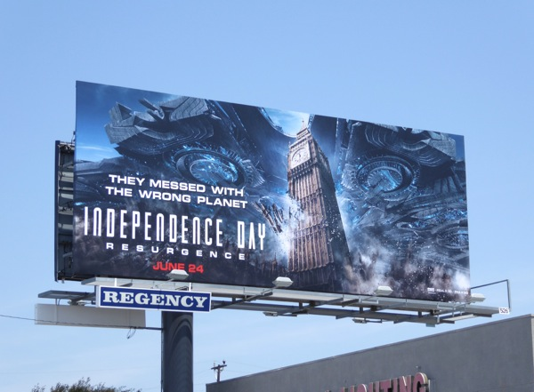 Independence Day Resurgence Big Ben billboard