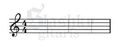 belajar not balok, belajar gitar, tips gitar, not balok, not balok pada gitar, tanda istirahat pengenalan not balok
