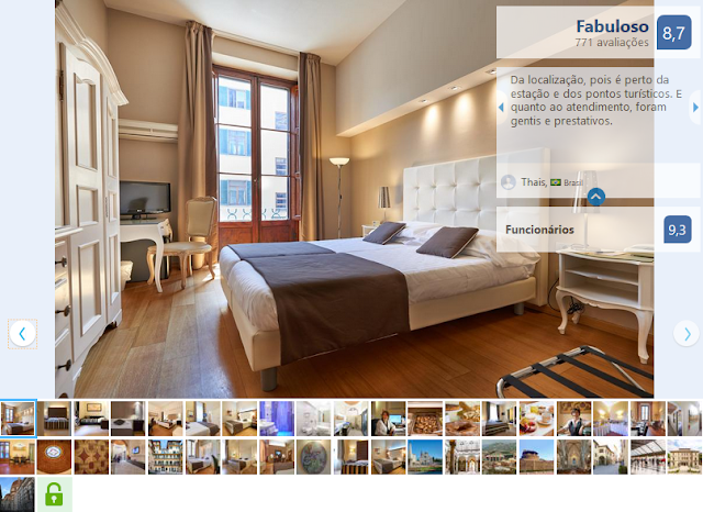 Hotel Cosimo de' Medici para ficar em Florença