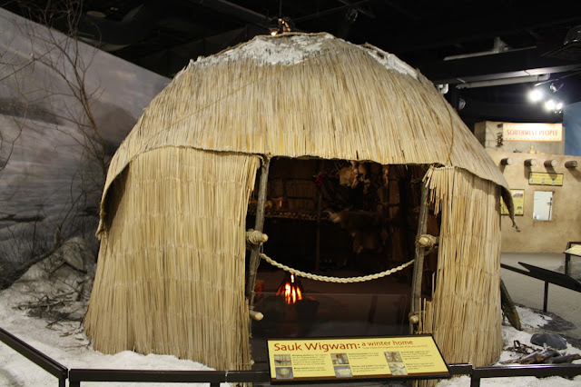 Sauk Wigwam at the Burpee Museum of Natural History in Rockford, IL