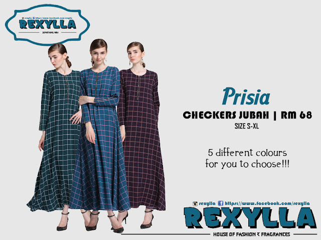 rexylla, checkers jubah, prisia collection