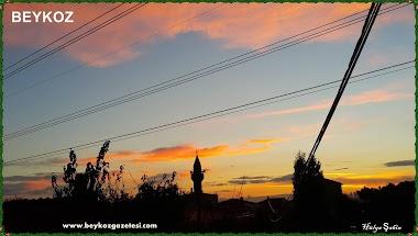 istabnbul beykoz gün batımı kızıl rengi