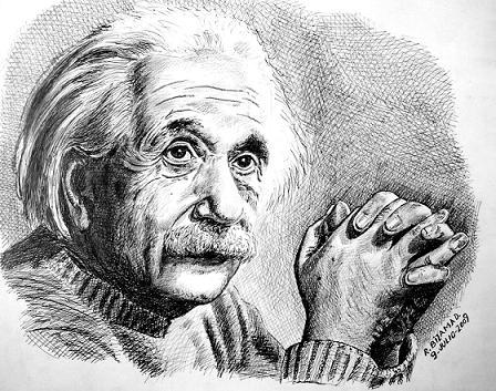 albert einstein by RobertoBizama Νίκος Λυγερός Η νοημοσύνη και το μέλλον της ανθρωπότητας