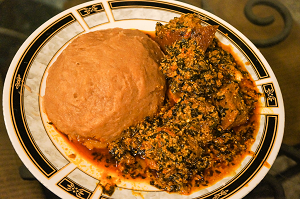 Egusi stew and fufu