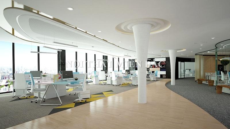Thiết kế nội thất văn phòng mở - 1