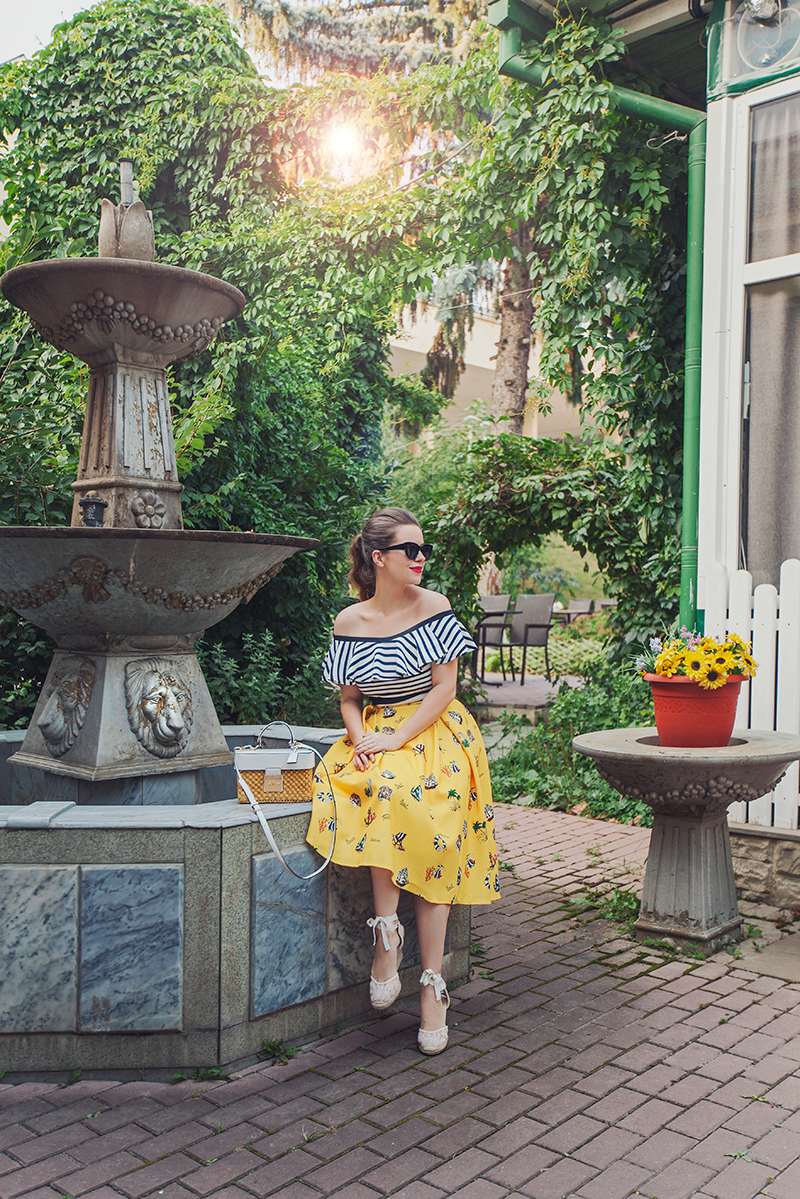 Chicwish Vacation Mood A-line Midi Skirt in Mustard