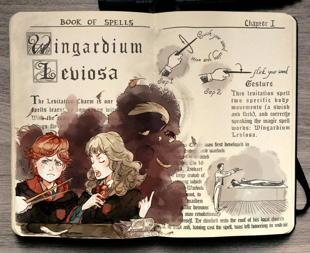 02-Wingardium-Leviosa-Gabriel-Picolo-kun-Harry-Potter-Moleskine-Drawings-of-Wizard-Spells-www-designstack-co